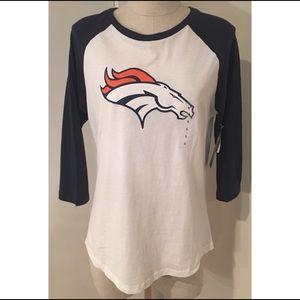 NWT NFL Denver Broncos Football Tee Shirt Top